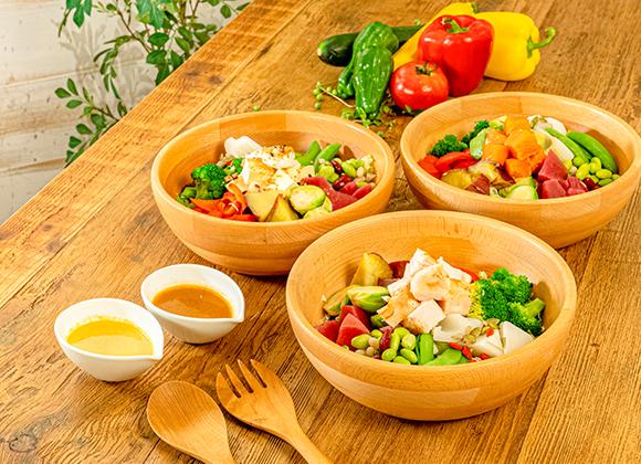お野菜が主食 3種類のパワーサラダ